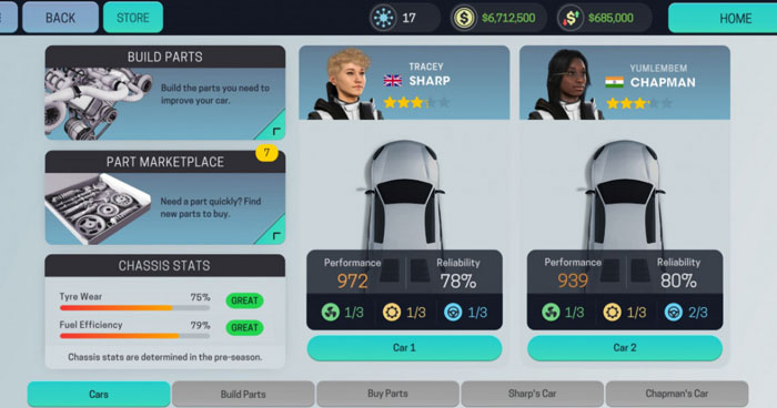 Motorsport Manager Mobile Android screenshot